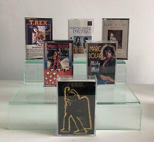 T-Rex Electric Warrior Cassette Job Lot Marc Bolan Bundle X 6 Castle Records