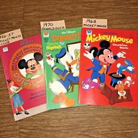 Vintage Walt Disney Mickey Mouse Donald Coloring Book Dot to Dot Number Set of 3