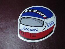 autocollant ancien : casque de moto, jacadi, philippe STREIFF