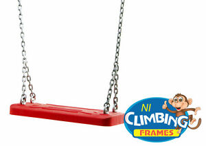RED Commercial Heavy duty rubber swing seat galvanised chain Playground quality