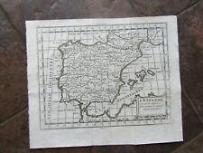 1768 ORIGINAL Map of Spain, Portugal