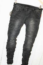 Place DU JOUR vintage jeans pantalon stretch taille 40 Noir NEUF