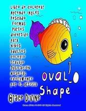 libro de colorear Aprende inglés Pescado formas Partes divertido para niños adul