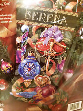 1996 Bucilla Ornaments of Christmas Needlepoint Stocking Kit 60742