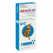 Bravecto Spot-on Solution for 2.8-6.25kg Cats - Pack of 2 Pipettes