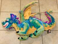 Melissa And Doug Dragon Stuffed Animal Plush Toy Large Green Purple Wings
