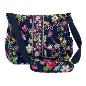 Vera Bradley Diaper Bag/Tote Mid Size Blue Floral