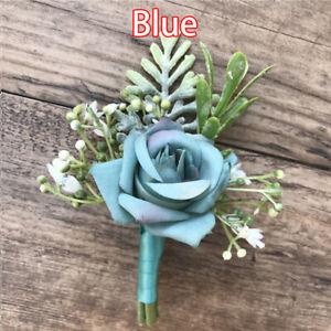 Men Silk Corsage Wedding Boutonniere Bridal Corsage Bridesmaid Party Flower