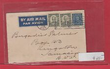 25 cent 1/2 ounce 1936 airmail rate to JAMAICA Canada cover