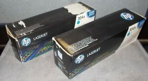 Lot of 2 Genuine HP CC532A Cyan Toner Cartridges For CP2025 CM2320 ~ NEW