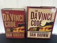 Dan Brown Da Vinci Code + Illustrated Edition HCDJ 1st Prints~Skitoma Error