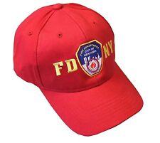 Fdny Junior Kids Baseball Hat Fire Department New York Red One Size Boys Girls
