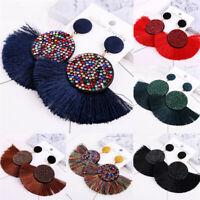 1 Pair Boho Women Crystal Tassel Earrings Ethnic Drop Dangle Fashion Jewelry