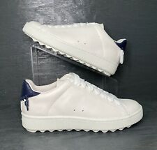 NEW Women's COACH C101 Low Top Leather Sneaker White / Midnight Navy  Size 8 B