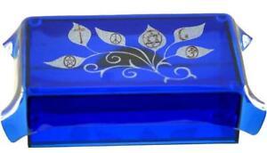 Tolerance Multi-Faith Blue Art Glass Tarot, Rune or Crystal Box!