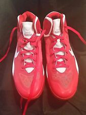 Nike Max Air Hyper Guard Up Basketball Shoes  Red White Mens Size 14 XLNT
