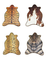 Catchnew Giraffe Deer Zebra Cow Leopard Cow Hide Mat Rug Animal Printed Carpe