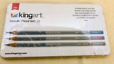 New Wrapped Kingart metallic pencil set 12