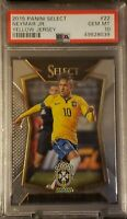 2015-16 Panini Select Neymar Jr  #22 Yellow Jersey PSA 10