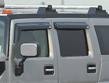 03-10 Hummer H2 GTS Acrylic Smoke Side Window Deflectors Vent Visors 4pc 48899