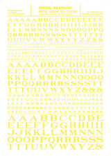 Woodland Scenics [Woo] Dry Transfer Roman Letters Yellow Mg705 Woomg705