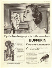 1957-BUFFERIN`medication, Art, retro bottle-Vintage Ad