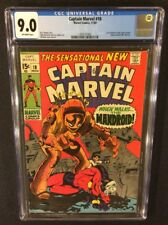 CAPTAIN MARVEL #18 Comic Book CGC 9.0 CAROL DANVERS MS MARVEL 1969 Gil Kane