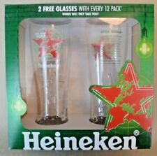 "Collectable Breweriana - Boxed & Unused 2 Heineken ""Open Your World"" Glasses"