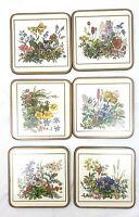 Vintage Pimpernel Meadow Flowers Floral Coasters Cork Back Set of 6