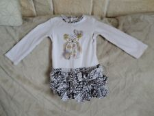 "Robe CATIMINI, ""Chouette Steppes"" manches longues, 2 ANS , BE"