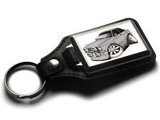 Koolart Cartoon Car Ford Escort Mark 2 Leather and Chrome Keyring
