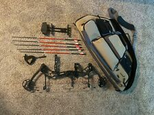 Bear Threat 60# Compound Bow, Case, And accessories