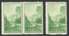 3 Vintage Unused US Postage 1 Cent Stamps YOSEMITE