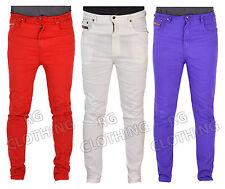 """Para Hombre Skinny Jeans Rojo, blanco y púrpura DE CINTURA 28-36 Pierna 31 """""""