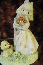 """Precious Moments-#4001245 """"Blooming In God's Love"""" -Girl w/Roses & Puppy - NEW"""