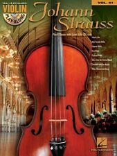 Johann Strauss Sheet Music Violin Play-Along Book and CD NEW 000121041