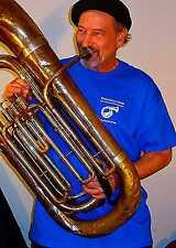Travelers Club Restaurant and Tuba Museum T-Shirt - BLUE
