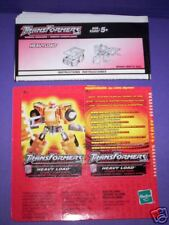 RID Transformers Heavy Load Instructions & Tech Spec