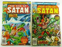 Marvel SON OF SATAN (1976) #6 + #8 DAIMON HELSTROM Bronze Age LOT Ships FREE!