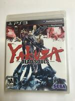 PS3 Yakuza - Dead Souls New Playstation 3 NEW SEALED PACKAGE