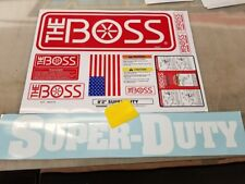 BOSS Super Duty Snow Plow  11pc Decal Replacement Kit Order Any size Blade BKST8
