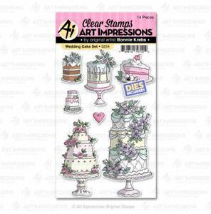 Art Impressions Stamp & Die Set - WEDDING CAKE SET Celebration, Birthday -5254