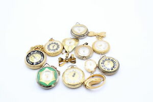 10 x Vintage Ladies PENDANT / FOB WATCHES Hand-Wind WORKING Inc. Lucerne, Smiths
