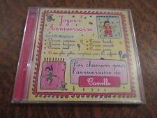 cd album bon anniversaire CAMILLE joyeux anniversaire
