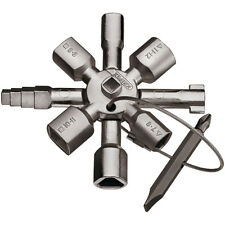 Knipex TwinKey® Multifunctional Cabinet Switchboard and Shut Off Key 00 11 01