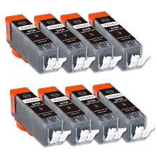 8 BLACK Printer Ink + smart chip for Canon PGI-250 MG5422 MG5522 MX722 MX922