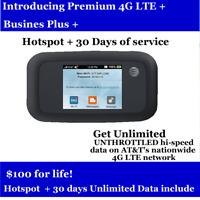 ATT  UNLIMITED Data Plan 4G LTE Include Hotspot $100/Month