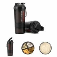 500ml BPA Free Shake Protein Blender Shaker Mixer Cup Drink Bottle Sports Mug