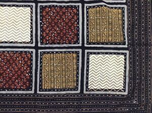 New Indian Gudari Kantha Cotton Twin Throw Bedspread Hand Made Needle Work G10