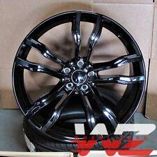 "22"" 612 Style Staggered Wheels fits BMW X5 X6 X5M X6M Gloss Black Rims"